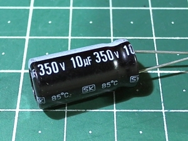 10мкФ 350В Jamicon